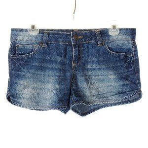 BLUENOTES Denim Shorts Distressed Mid Rise Blue